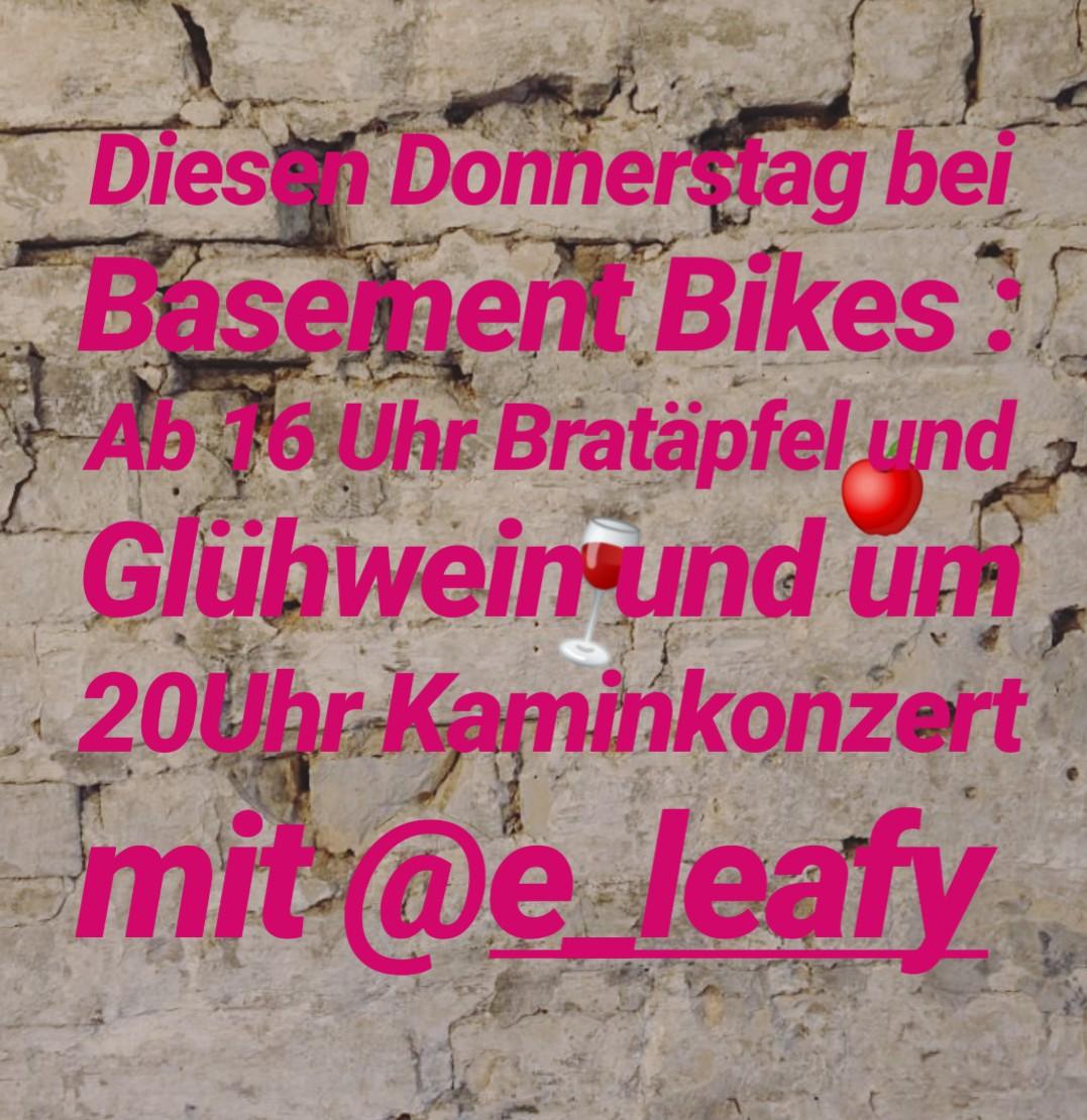 Am 19.12.19 Kaminkonzert bei Basement Bikes